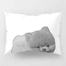 pomeranian b&w Pillow Sham