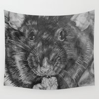 rat Wall Tapestries featuring Rat by Natasha Maiklem
