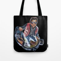 marty mcfly Tote Bags featuring MARTY MCFLY by John McGlynn