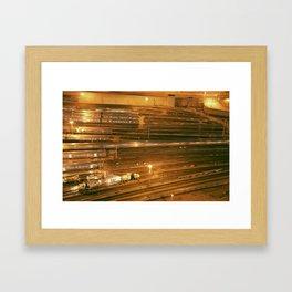 Train Yards Framed Art Print