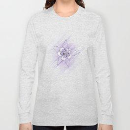 Minimal Nature - Purple Columbine Long Sleeve T-shirt
