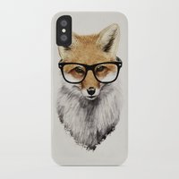 hipster iPhone & iPod Cases featuring Mr. Fox by Isaiah K. Stephens