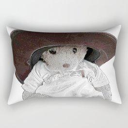 JoJo bear wearing daddies hat  Rectangular Pillow