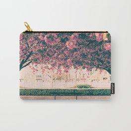 Paris, cherry blossom garden Carry-All Pouch