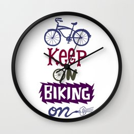 Keep On Riding On Wall Clock