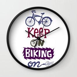 Keep On Riding On Wall Clock