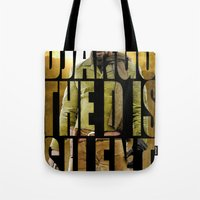django Tote Bags featuring Django Unchained by SB Art Productions