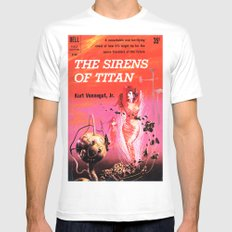 Vonnegut -  The Sirens of Titan Mens Fitted Tee 2X-LARGE White