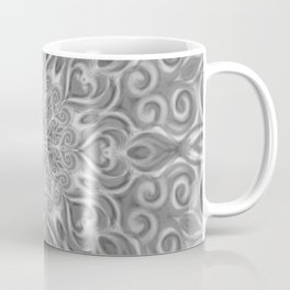 Gray Center Swirl Mandala Coffee Mug