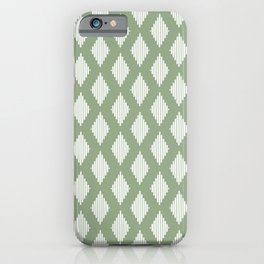 Diamond Lines <Sage Green> iPhone Case