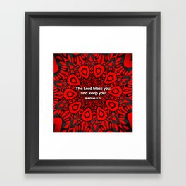 Bless you! Framed Art Print