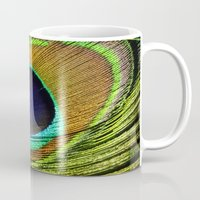 feathers Mugs featuring feathers by mark ashkenazi