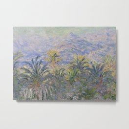 Palm Trees at Bordighera Metal Print