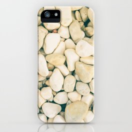 White sea pebble iPhone Case