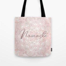 Pink Mandala, Namaste Greeting, Yoga Tote Bag