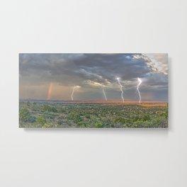 Storm Approaching Chino Valley Arizona Metal Print
