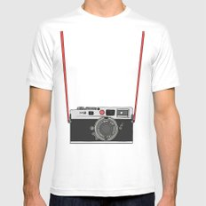 Camera Mens Fitted Tee White MEDIUM