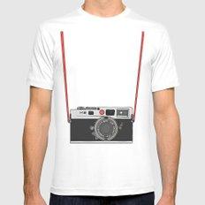 Camera MEDIUM Mens Fitted Tee White