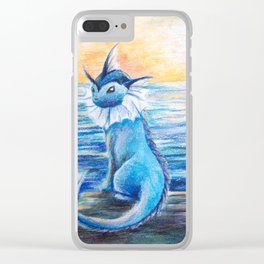 Vaporeon By The Sea At Dawn Clear iPhone Case