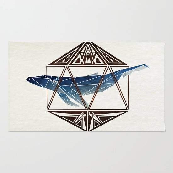 whale in the icosahedron Rug