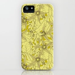 deadly nightshade chartreuse iPhone Case