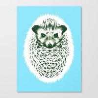 hedgehog Canvas Prints featuring hedgehog by barmalisiRTB