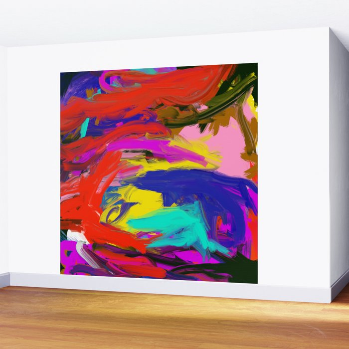 Rainbow Abstract II Wall Mural