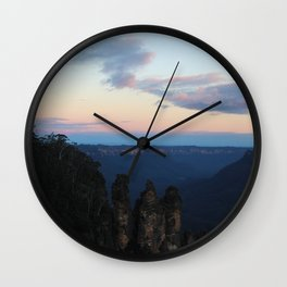 Sisters At Sunset Wall Clock