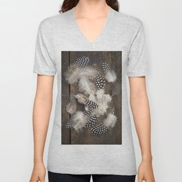 Feathers of guinea fowl Unisex V-Neck