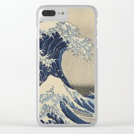 Under the Wave off Kanagawa, 1830/33 Clear iPhone Case