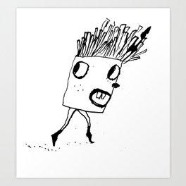 Fry Run Art Print