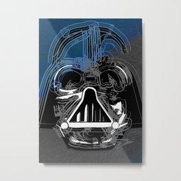 Darth Vader the Grey Metal Print