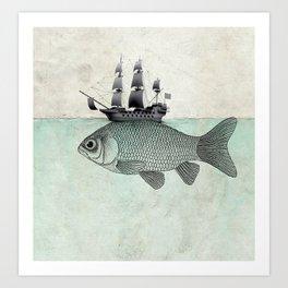 Voyage Goldfish Art Print