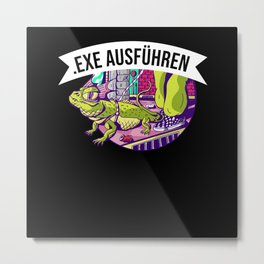 Execute Exe For Computer Scientists U. Gamer Gift Metal Print