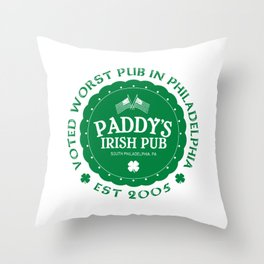 Paddy's Irish Pub Throw Pillow