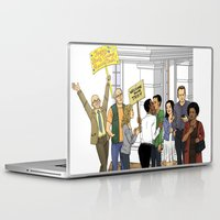 caleb troy Laptop & iPad Skins featuring Welcome Home Troy by Kivitasku Designs