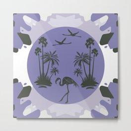 Lavender Malibu Landscape Mid Century Modernist Metal Print