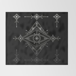 Wild Eye - Darkness Throw Blanket