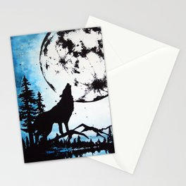 Moon Wolf Stationery Cards