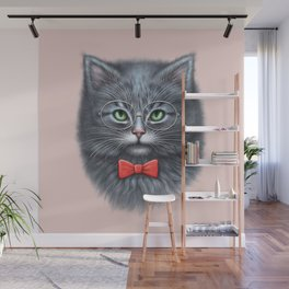 Meooowwwww......( i'm the coolest cat in the world.....hahaha..... ) Wall Mural