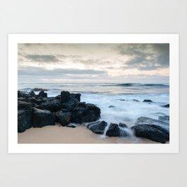 Dramatic coastline at Poipu beach in Kauai, Hawaii. Art Print
