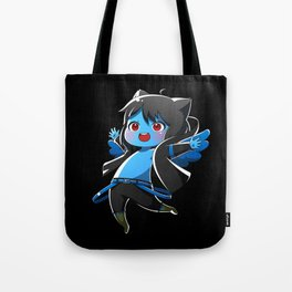 Chibi Luc (Expression 1) w/ Black Background Tote Bag