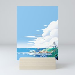 The end of the north, the thoughts are far away in the sea Mini Art Print