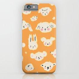 animal faces iPhone Case