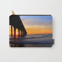 Scripps Pier - Sunset Splash Carry-All Pouch