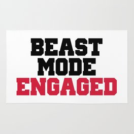 Beast Mode Engaged Gym Quote Rug