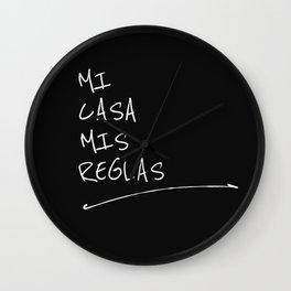 MI CASA MIS REGLAS Wall Clock