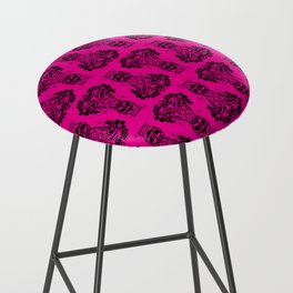 Power Tiki Girl - Hibiscus - Hot Pink Bar Stool