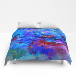 Abstract Seascape Painting Comforters