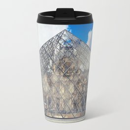 glass pyramid Travel Mug